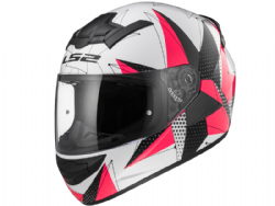 Casco Ls2 FF352 Rookie Brilliant Blanco-Rosa