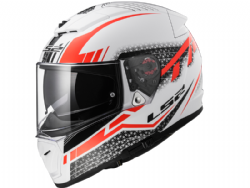 Casco Ls2 FF390 Breaker Split Blanco-Rojo