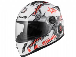 Casco Ls2 FF392J Kid Machine Blanco-Rojo