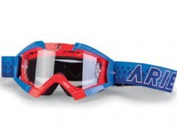 Gafas motocross Ariete Riding Crows Top Rojo Fluo / Azul