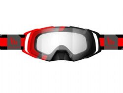 Gafas motocross Mt Evo Stripes Negro / Rojo