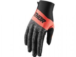 Guantes Thor Invert Negro / Coral