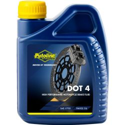 Líquido frenos Putoline DOT 4 Perfomance Brake Fluid 500 Ml