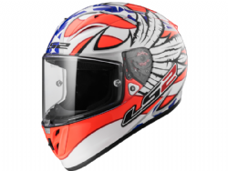 Casco Ls2 FF323 Arrow R Evo Freedom Blanco / Naranja / Azul