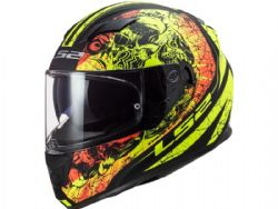 Casco Ls2 FF320 Stream Evo Throne Negro Mate / Amarillo