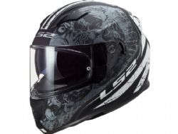 Casco Ls2 FF320 Stream Evo Throne Negro Mate / Titanio