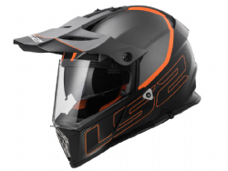 Casco Ls2 MX436 Pioneer Element Negro-Titanio Mate