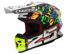Casco Ls2 MX456 Light Evo Punch Blanco-Negro