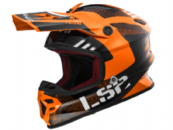 Casco Ls2 MX456 Light Evo Rallie Naranja-Negro