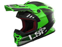 Casco Ls2 MX456 Light Evo Rallie Verde-Negro