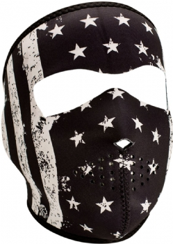 Mascara ZAN Headgear Full Mask Blanca Negra Flag WNFM091
