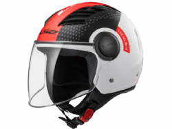 Casco Ls2 OF562 Airflow L Condor Blanco-Negro-Rojo