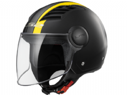 Casco Ls2 OF562 Airflow L Metropolis Negro Mate-Amarillo