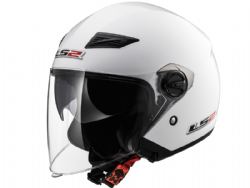 Casco Ls2 OF569 Track Solid Blanco