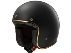 Casco Ls2 OF583 Bobber Solid Negro Mate