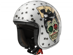 Casco Ls2 OF583 Bobber Tattoo Plata
