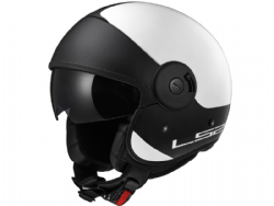 Casco Ls2 OF597 Cabrio Via Blanco-Negro Mate