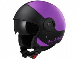 Casco Ls2 OF597 Cabrio Via Morado-Negro Mate