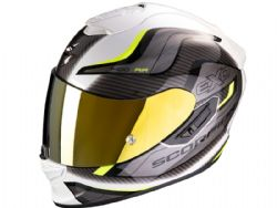 Casco Scorpion Exo-1400 Air Attune Blanco / Amarillo