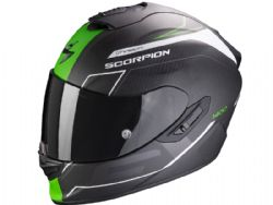 Casco Scorpion Exo-1400 Carbon Air Beaux Blanco Mate / Verde