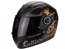 Casco Scorpion Exo-490 Golden State Negro Oro