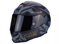 Casco Scorpion Exo-510 Air Cipher Negro Mate / Oro