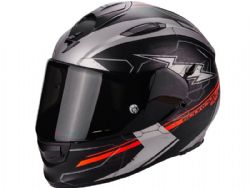 Casco Scorpion Exo-510 Air Cross Negro Rojo