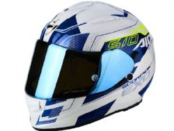 Casco Scorpion Exo-510 Air Galva Blanco / Azul