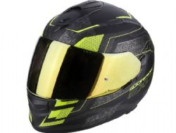 Casco Scorpion Exo-510 Air Galva Negro Mate / Amarillo