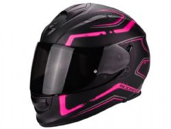 Casco Scorpion Exo-510 Air Radium Negro Mate / Rosa