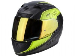 Casco Scorpion Exo-710 Air Mugello Negro / Amarillo