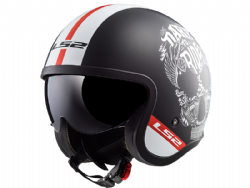 Casco Ls2 OF599 Spitfire Inky Negro Mate-Blanco