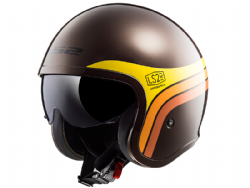 Casco Ls2 OF599 Spitfire Sunrise Marron / Amarillo