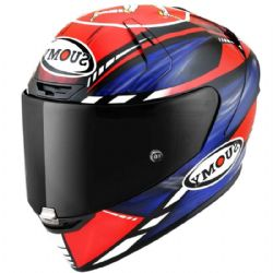 Casco Suomy SR-GP On Board Azul / Rojo Fluo