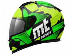 Casco Mt Thunder Kid Torn Amarillo Flúor-Verde