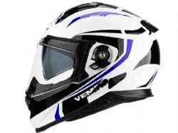 Casco Vemar Zephir Mark Blanco / Azul