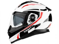 Casco Vemar Zephir Mark Blanco / Rojo