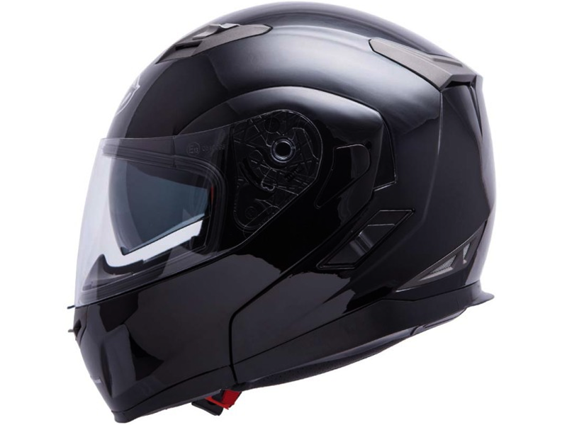 Casco Mt Flux Solid Negro Brillo