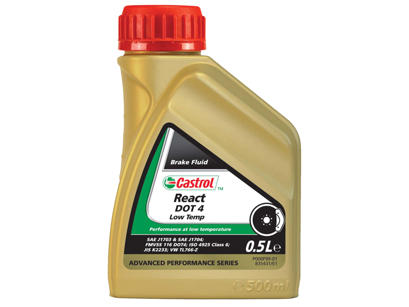 Aceite Castrol React Performance Dot 4 0.5 Litro