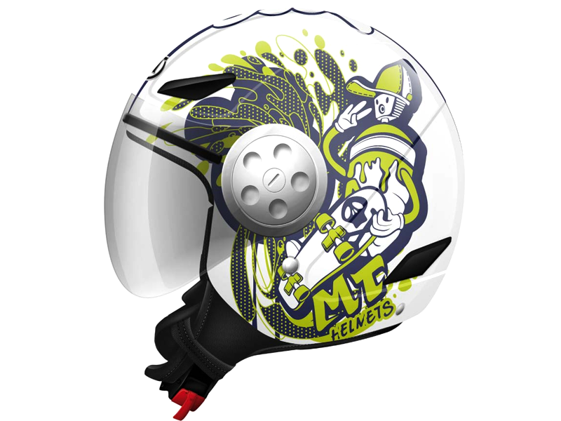 Casco Mt Urban Kid Skate Board Blanco-Amarillo