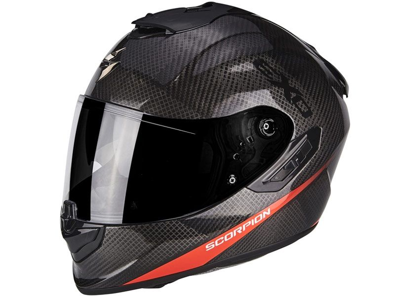 606253f513338 Casco Scorpion Exo-1400 Air Carbon Pure Rojo