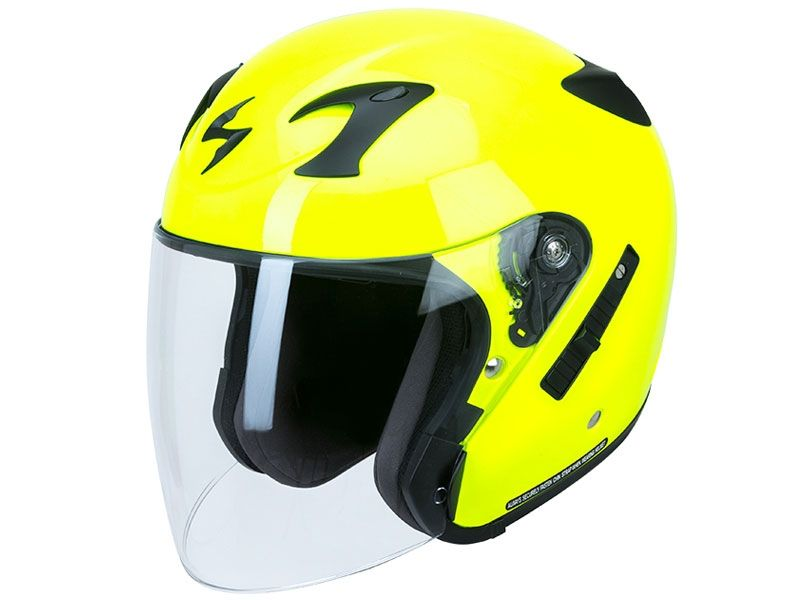 Casco Scorpion Exo-220 Amarillo Fluor