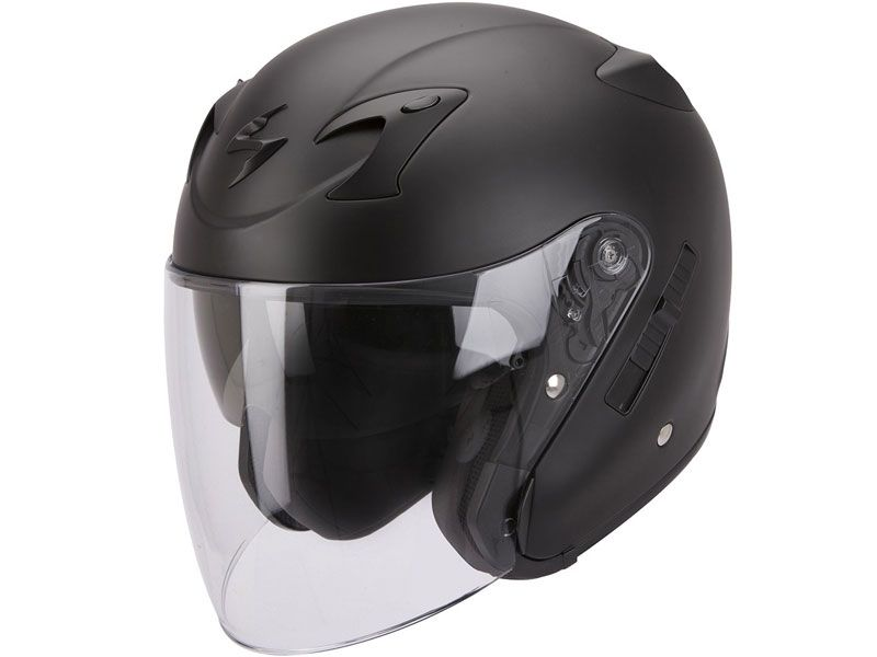 Casco Scorpion Exo-220 Solid Negro Mate
