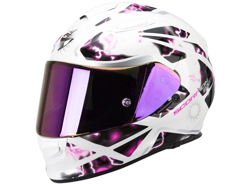 Casco Scorpion Exo-510 Air Xena Blanco-Rosa