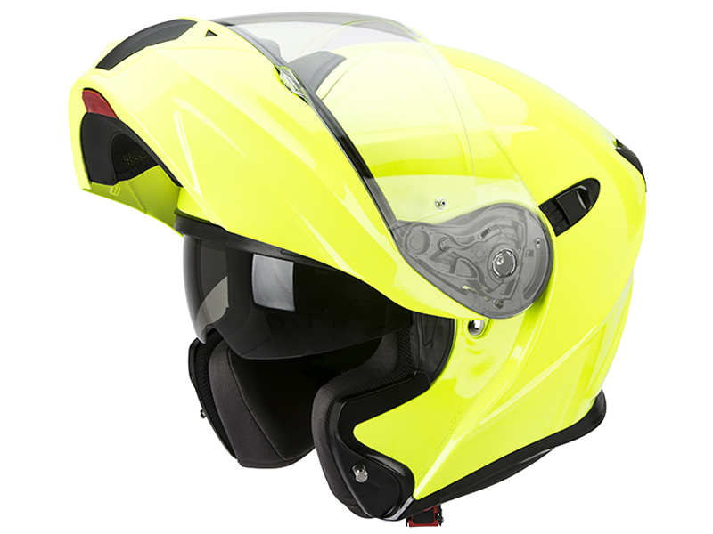 Casco Scorpion Exo-920 Solid Amarillo Fluor