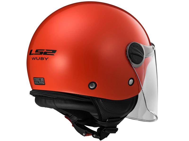 Casco Ls2 OF575J Wuby Solid Rojo
