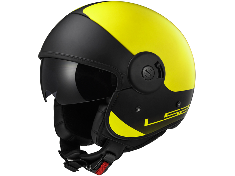 Casco Ls2 OF597 Cabrio Via Amarillo Fluor-Negro Mate