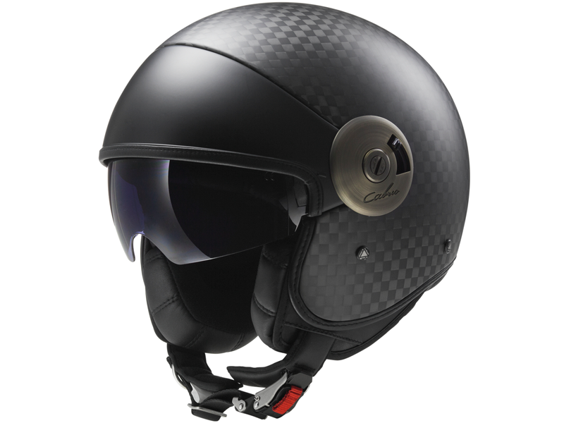 Casco Ls2 OF597 Cabrio Solid Carbono Mate