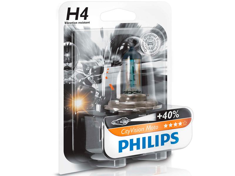 bombilla philips cityvision moto h4 12v 60 55w. Black Bedroom Furniture Sets. Home Design Ideas