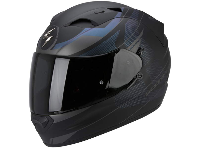 Casco Scorpion Exo-1200 Air Fulmen Negro-Plata